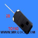 Toyota Camry Flip Remote Key Shell 2 Button