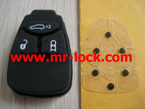 Chrysler remote key 3 button pad